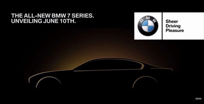 Седан BMW 7-Series официально дебютирует 10 июня текущего года