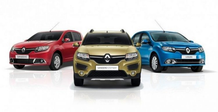 Renault готовится начать продажи Logan, Sandero и Sandero Stepway с «роботом» на авторынке РФ