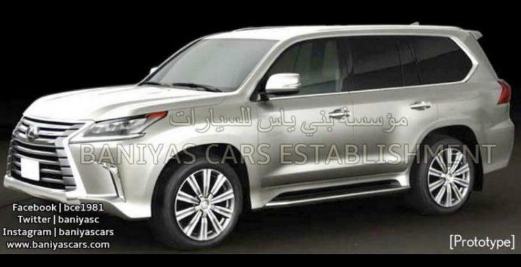 В Интернет попали новые изображения обновленной версии Lexus LX