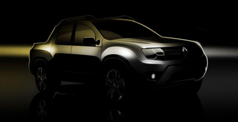 Renault обнародовал тизерные изображения нового пикапа Sport Utility Pickup