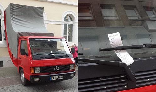 В Германии полицейский выписал квитанцию памятнику