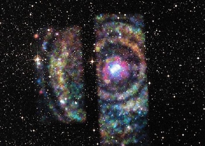 НАСА опубликовало фото самой большой и яркой «межзвездной радуги»