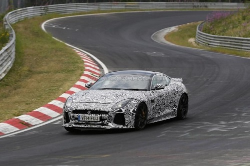 Во время тестов был замечен Jaguar F-Type SVR