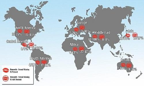 Названы страны, в которых жители не любят целоваться