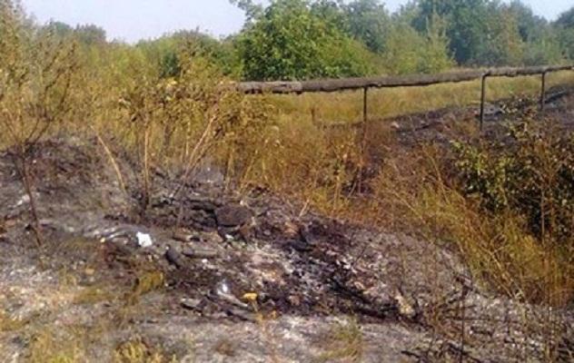 Под Мариуполем был найден обгоревший труп военного