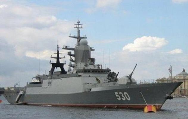 У границ Латвии опять удалось зафиксировать военный фрегат Адмирал Горшков ВМФ России