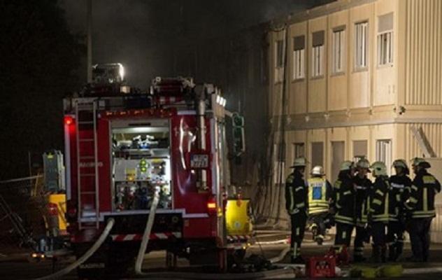 В Германии произошел пожар в общежитии, где проживали беженцы