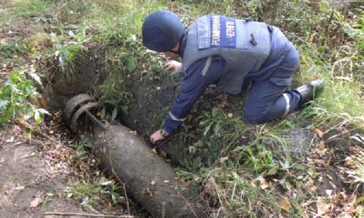 В Чернигове военнослужащие обнаружили 250-килограммовую фугасную авиационную бомбу